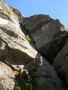 Rock Climbing Photo: Looking up at the route from near the start