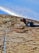 Rock Climbing Photo: halfway up Borrowing From Tradition, Clark Canyon,...