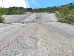 Rock Climbing Photo: The great flake on P4