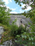 Rock Climbing Photo: off the tree ledge and into the crack on P2