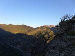 Rock Climbing Photo: Precipitous bit on the trail near Mt. Royal summit...