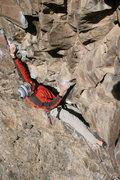 Rock Climbing Photo: Cranking past the crux.