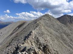 Rock Climbing Photo: Last (optional) class 3 bit to the Peak 10 summit.
