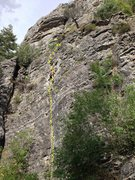 Rock Climbing Photo: Darrell Hodges at the crux of Terraformed 5.8