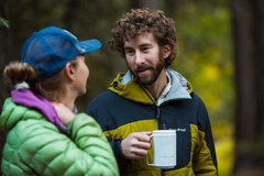 Rock Climbing Photo: Cor waking up with his morning cup of Joe.