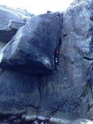 Rock Climbing Photo: Phil following