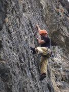 Rock Climbing Photo: DK on the FA of Black Market Beagles 5.9