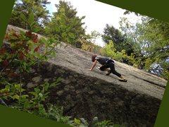 Rock Climbing Photo: Madison heading up the lower half of the slab