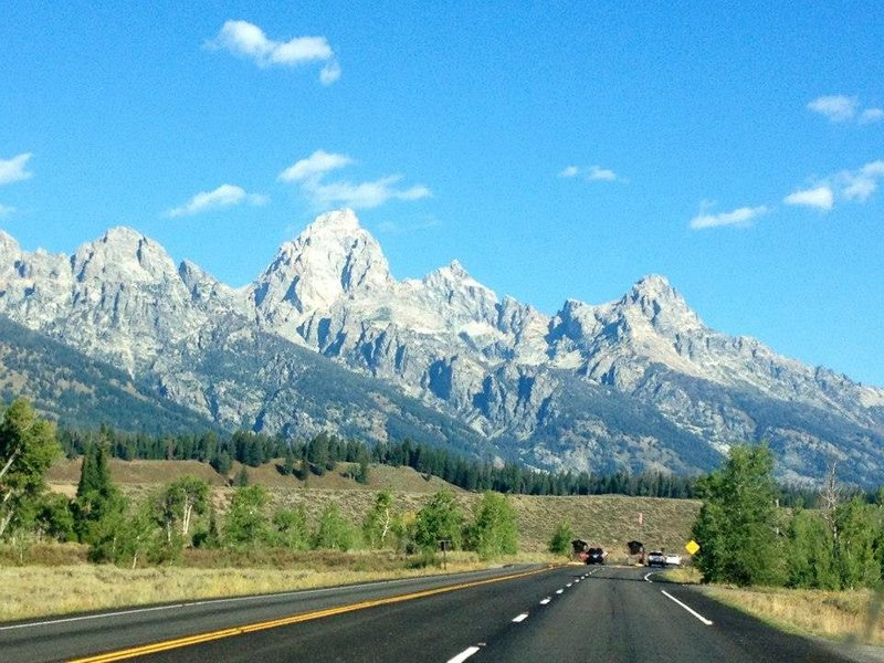 On the way to Grand Teton