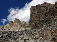 Rock Climbing Photo: The approach to the lower saddle