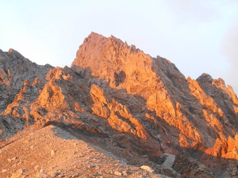 Sunset on the lower saddle