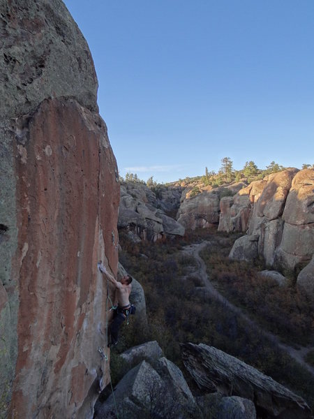 Splitter October afternoon in Penitente Canyon, CO.  <br> <br> -- Photo by Said