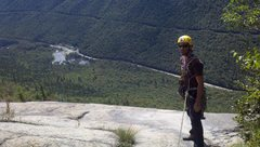 Rock Climbing Photo: Jon at the 4th pitch anchors
