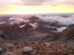 Rock Climbing Photo: Sunset on the lower saddle