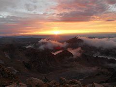 Rock Climbing Photo: Sunset on the lower saddle