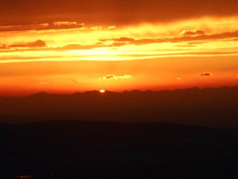 Sunset on the lower saddle