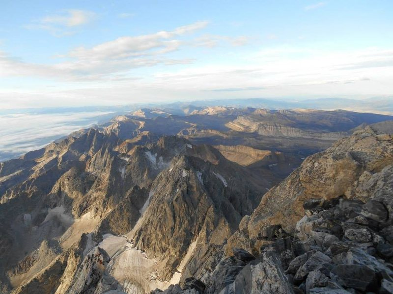Spectacular view from the summit of Grand Teton
