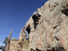 Rock Climbing Photo: Speed bouldering at Carter Lake.