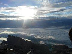 Rock Climbing Photo: Crystal Horizen from the summit of Grand Teton
