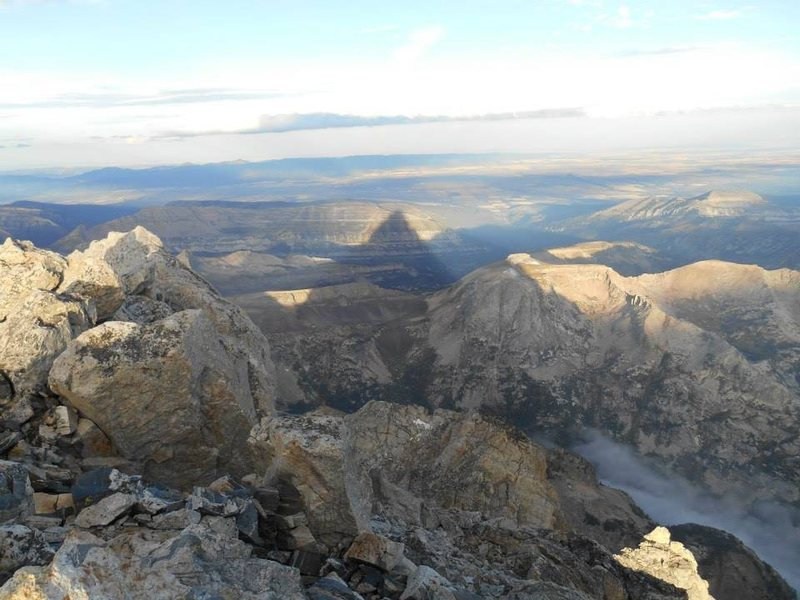 The shadow of Grand Teton