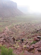 Rock Climbing Photo: a moist walk down.