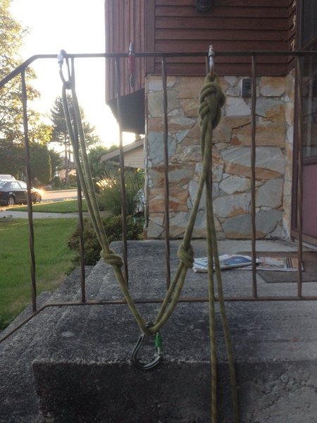 Rock Climbing Photo: 2 pt sliding x rope with knots