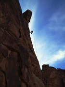 Rock Climbing Photo: Rapping off of the lightbulb in the North part of ...