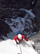 Rock Climbing Photo: Simon cruising up the final meters of Rainbow Serp...