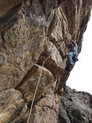 Rock Climbing Photo: Matt Bogar climbs Vadito Hijito, 5.10