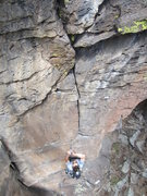 Rock Climbing Photo: Paul Drakos on Finger Puppet, 5.10