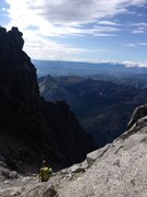 Rock Climbing Photo: Don't go down Ulrich's. Endless scree, talus and c...