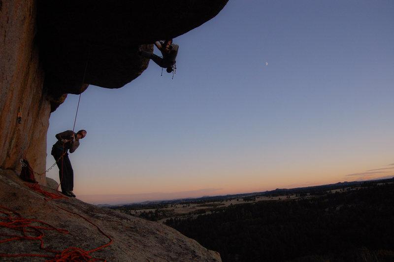 Rock Climbing Photo: Sunset sending.