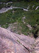 Rock Climbing Photo: Nathan following P3 of the beautiful Skylight Aret...