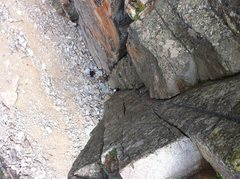 Rock Climbing Photo: Nathan starting up Chewbacca. Cracked Canyon, Ophi...
