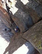 Rock Climbing Photo: Nathan deciphering the crux of Chewbacca. Cracked ...
