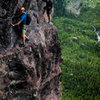 Cruising along the Telluride Via Ferrata on a beautiful summer morning.