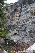 Rock Climbing Photo: Strawberry Fields Wall 1. Strawberry Blonde 5.10a ...
