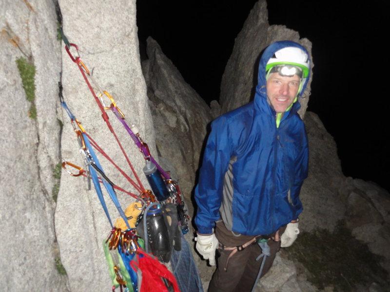 Rock Climbing Photo: Bivvy on top of 4th Pitch