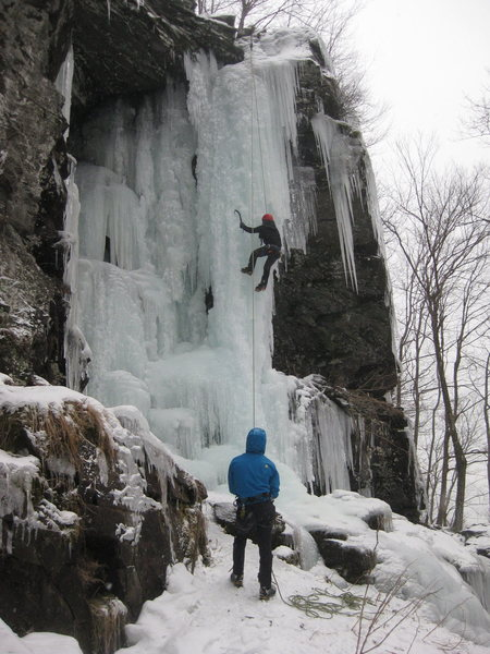 Ice Climbing in the Catskills