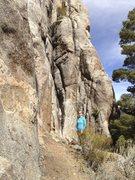 Rock Climbing Photo: Kristin at the base of the climb.
