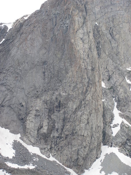 Rock Climbing Photo: I believe this is Raid and the route starts at the...