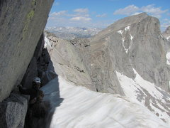Rock Climbing Photo: Snow traverse at the top.