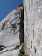 Rock Climbing Photo: The one or two pitches we roped up for.  Hard sque...
