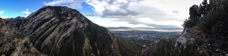 Rock Climbing Photo: The view from the top of Squawstruck p6
