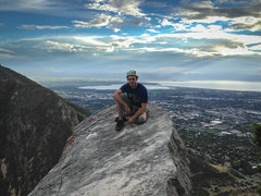 Rock Climbing Photo: On top of Squawstruck p8