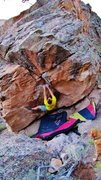 Rock Climbing Photo: At the jug, about to enter the rough section on Ch...