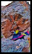 Rock Climbing Photo: Chilly Willy problem beta.