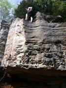 Tony Hosek having fun and looking good while bouldering