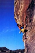 Rock Climbing Photo: Tony Yaniro on The Mechanic (5.12a), City of Rocks...