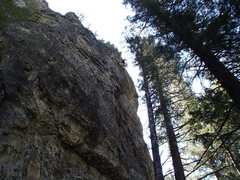 "Rock Climbing Photo: Nearing the chains on Reaver. ""A totally safe..."